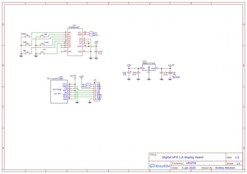 Schematic Digital VFO 1.8 display board 1.0.png