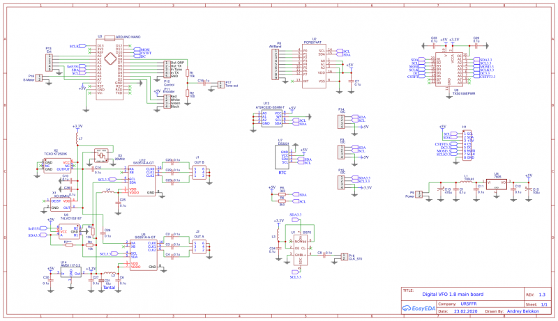Schematic Digital VFO 1.8 main board 1.3.png